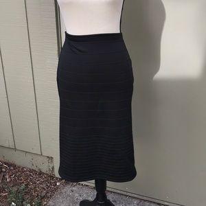 TopShop Black Midi Skirt